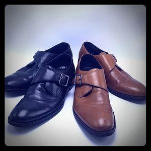 Set of 2 Johnston & Murphy men's monk strap shoes